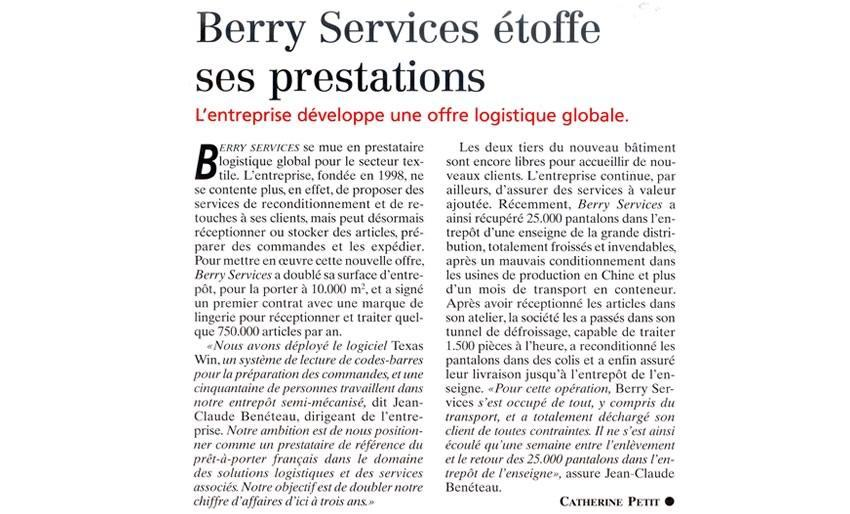 Berry Services étoffe ses prestations