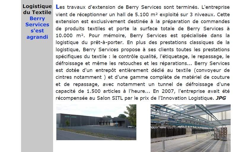Berry Services : Supply Chain Magazine